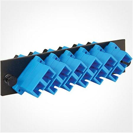 ICC 6-Port Duplex Fiber Optic Patch Panel ICFOPC16BK