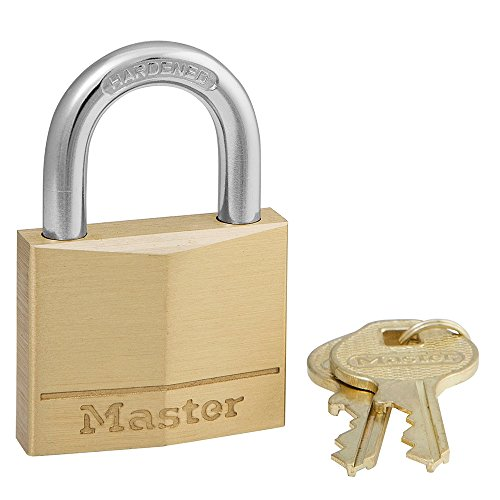 Master Lock 140D Solid Brass Keyed Different Padlock with 1-9/16-Inch Wide Body 1/4-Inch Shackle