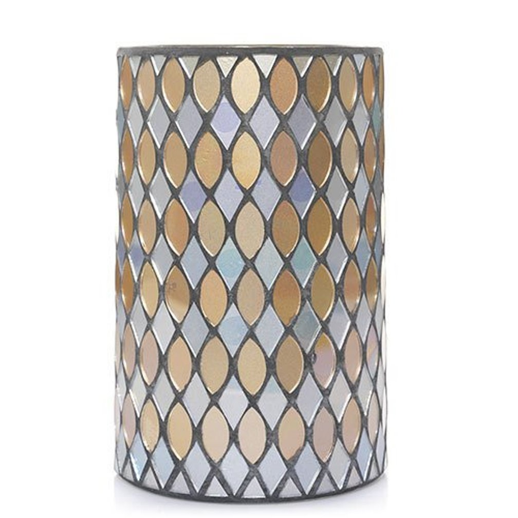 Yankee Candle Home Collection Silver & Gold Mosaic Jar Candle Luminary