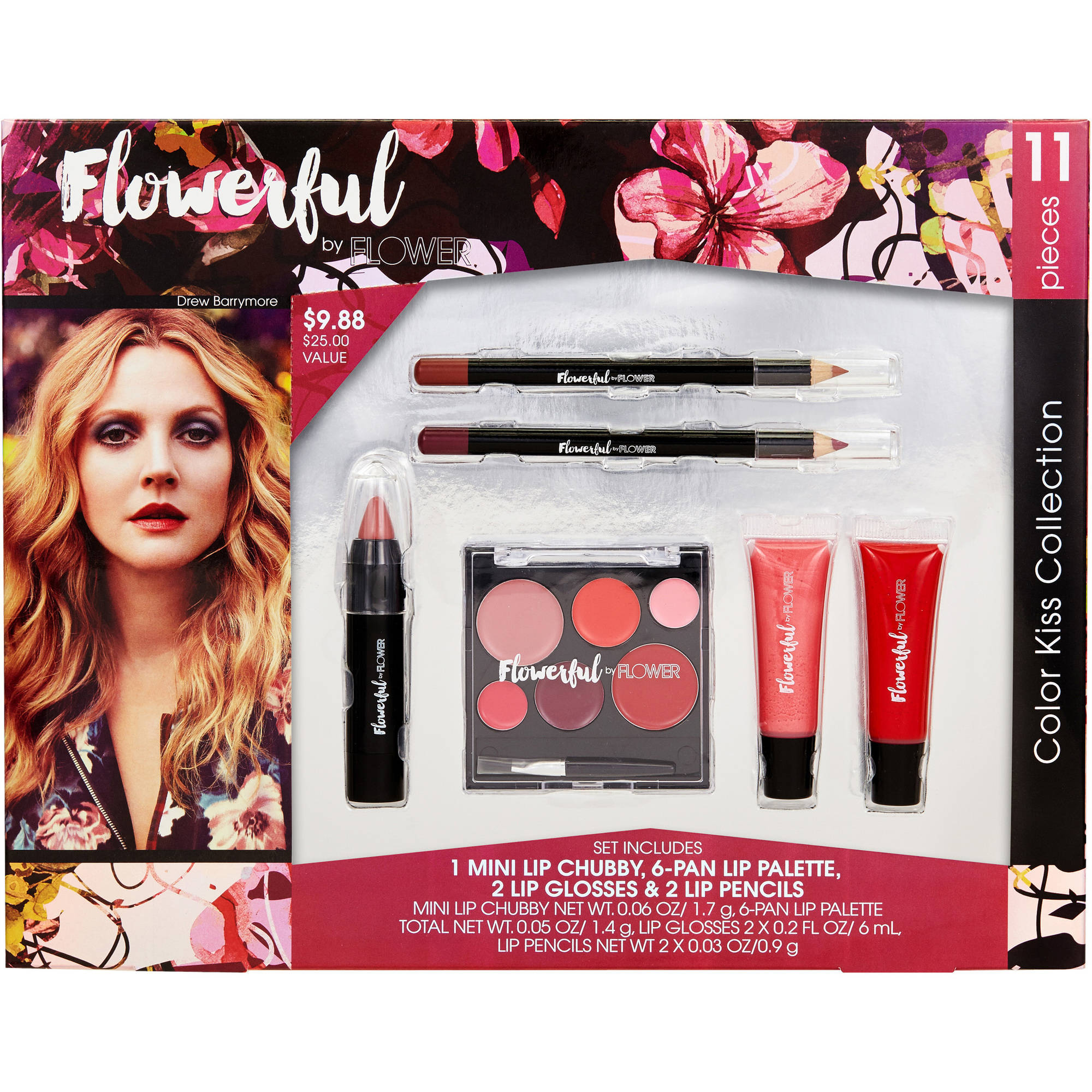 Flower flowerful color kiss collection gift set 11 pc walmart izmirmasajfo Image collections