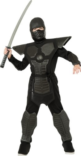 Black Ninja Costume for Kids Deluxe New by Rubies 886643 all sizes