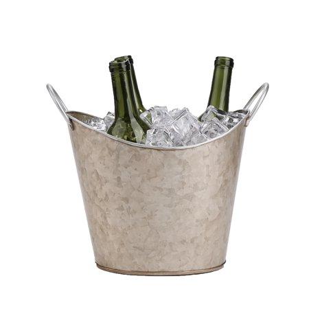 Mind Reader Beverage Tub Bucket Copper Plated Galvanized, Heavy Duty, Brown - Galvanized Buckets Wholesale
