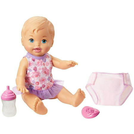 Little Mommy Drink & Wet Feeding and Changing Doll, Blonde