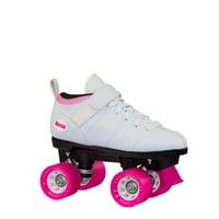 Chicago Ladies Bullet Speed Skates White Classic Quad Roller Skate, Sizes 1-10