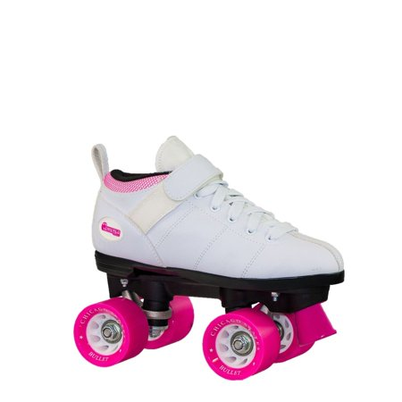 Chicago Ladies' Bullet Speed Skates White Classic Quad Roller Skate, Size (Baby Skate)