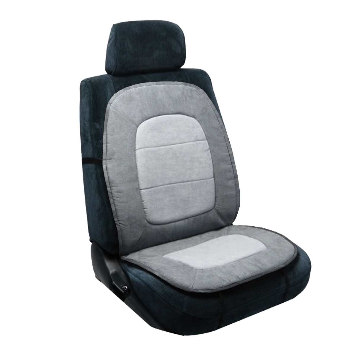Pilot Automotive Universal Orthopedic Comfort Car Seat Cushion Gray Strap Home