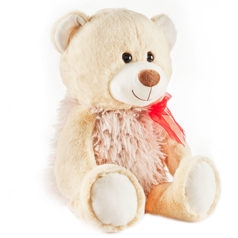 Baby Net For Stuffed Animals, Way To Celebrate Valentine S Day Large Plush Bear Tan Walmart Com Walmart Com