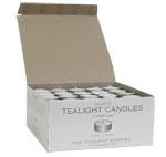 Unscented Tea Lights 125 Pack tea light candles in metal cups