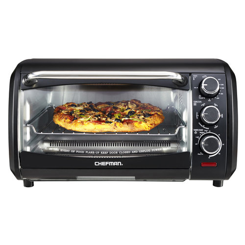 Chefman Extra-Large 6-Slice Countertop Convection Oven, Black