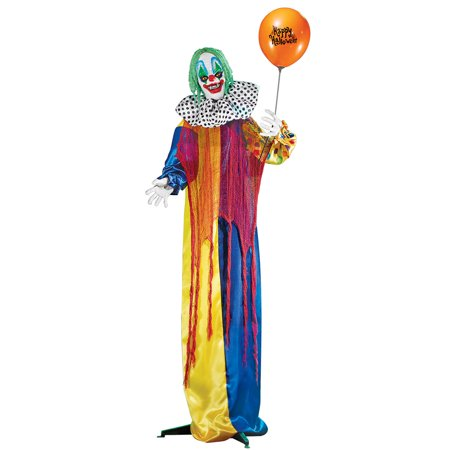Animated Creepy Clown Life Size Halloween Décor, Outdoor or Indoor, Motion-Activated Sound (Creepy Halloween Decoration Ideas Diy)