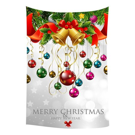GCKG Xmas Merry Christmas Happy New Year Bedroom Living Room Art Wall Hanging Tapestry Size 80x60 inches - image 2 of 2