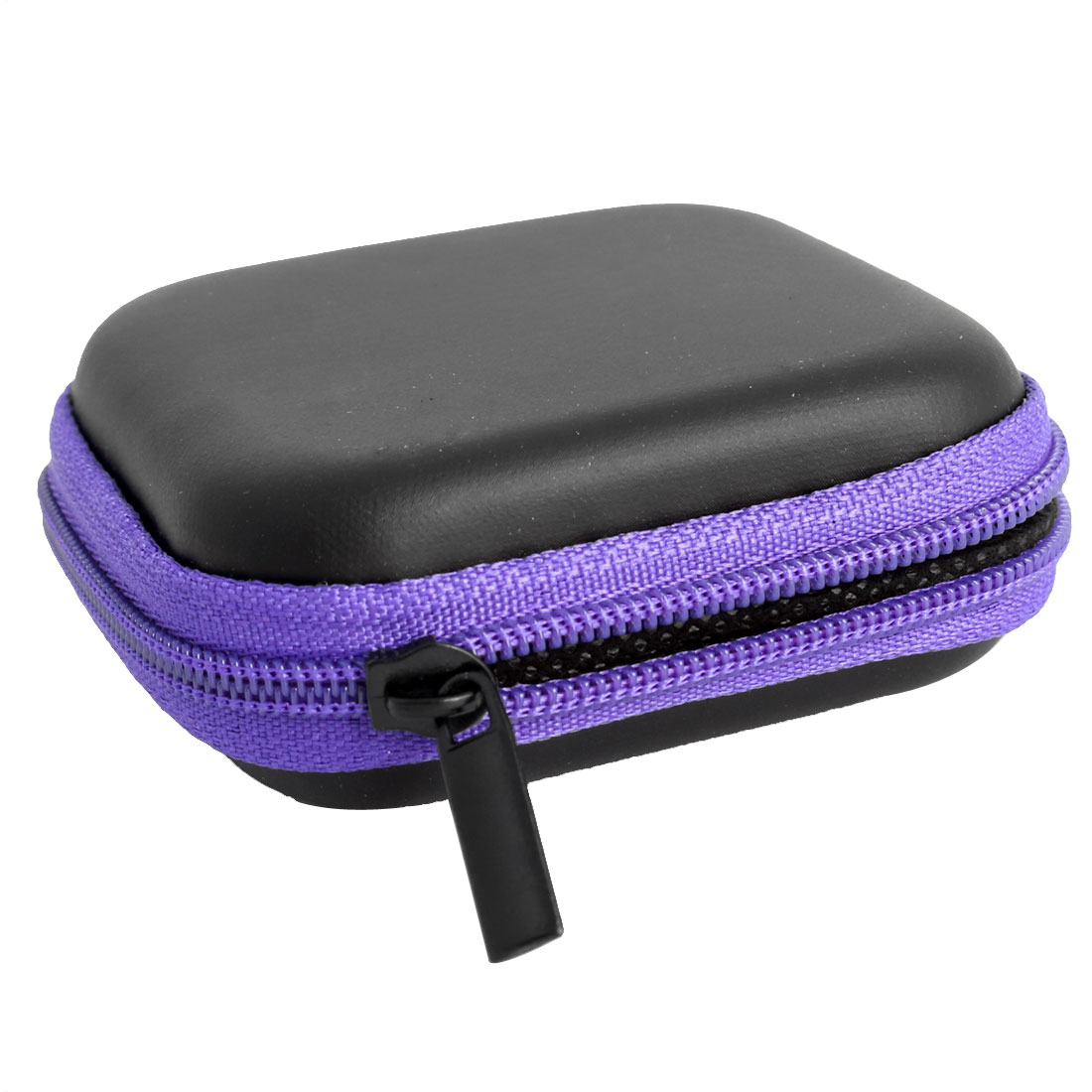 Cellphone Earphone Earbuds Square Carrying Cases Storage Bags Pouch Purple
