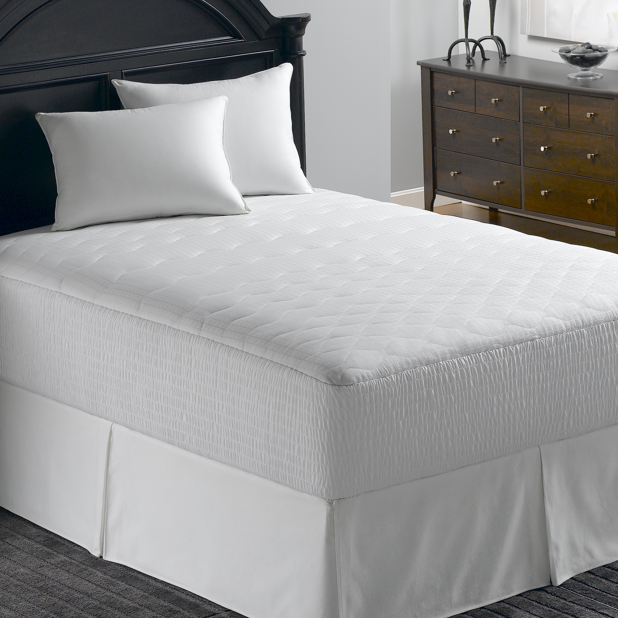 500TC Mosaic Stain Release Protection Mattress Pad in Multiple Sizes