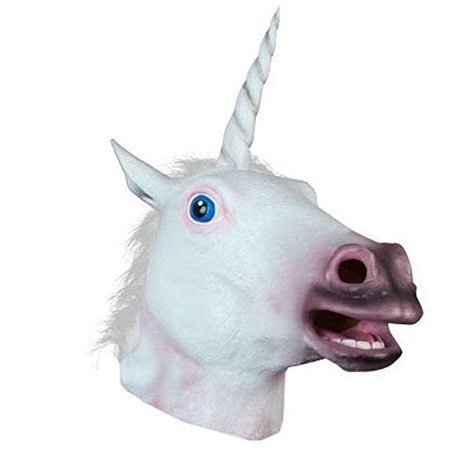 Halloween Costume Party Latex Animal Head Mask, Unicorn](Goat Head Mask)