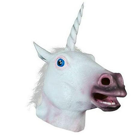 Halloween Costume Party Latex Animal Head Mask, Unicorn - Mask Halloween Party