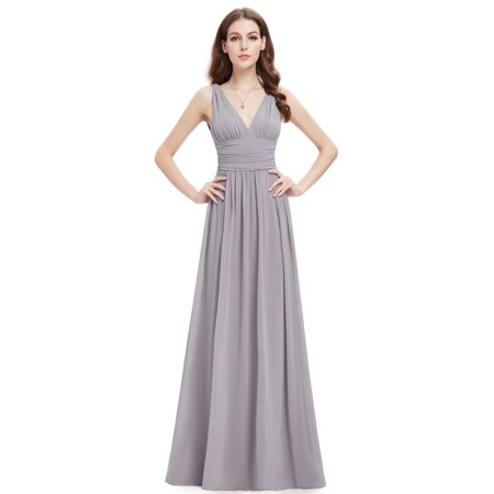 4700f928345f Ever-Pretty - Ever Pretty Sleeveless V-Neck Semi-Formal Maxi Dress 09016 -  Walmart.com