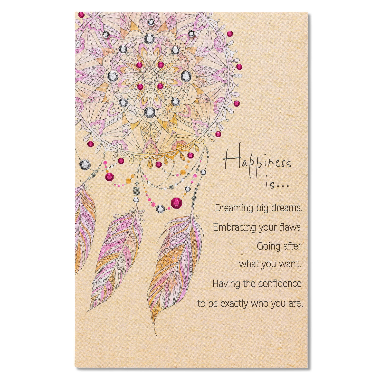 American Greetings Dreamcatcher Birthday Card With Rhinestone