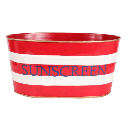 Malabar Bay, LLC Horizontal Stripe Sunscreen Tub