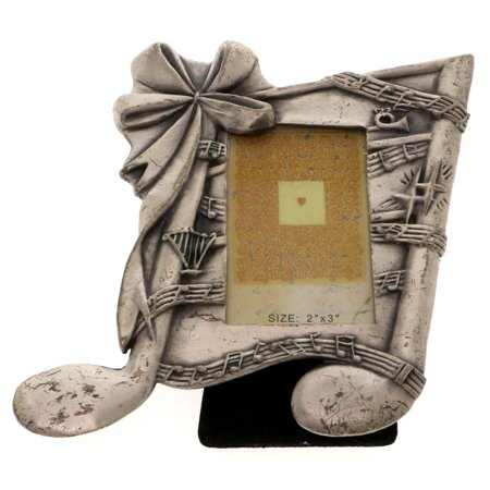 - Mi Amore Music note Picture-Frame Pewter