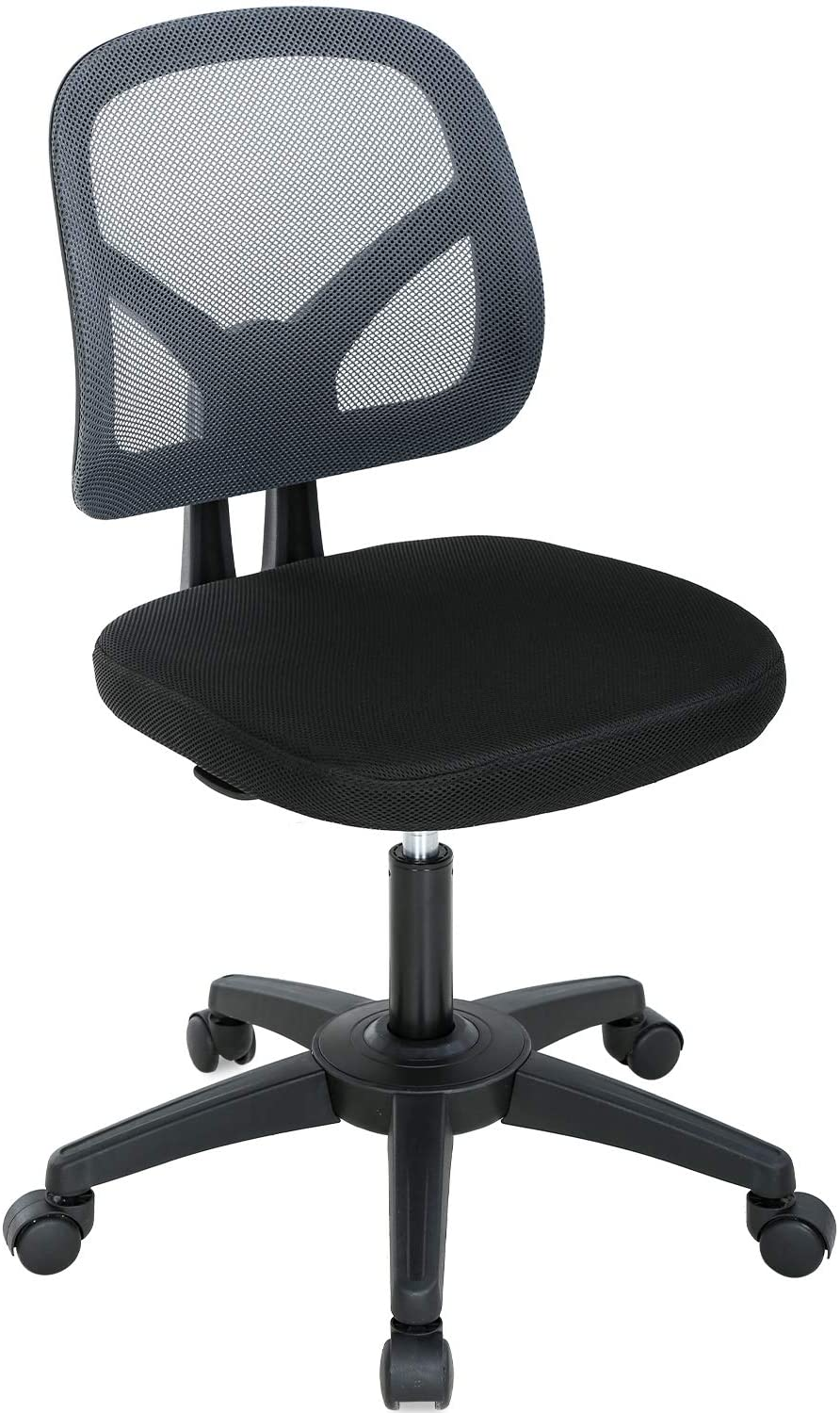 Image of: Home Office Chair Ergonomic Mesh Computer Chair Rolling Adjustable Desk Chair With Lumbar Support Swivel Cute Task Chair For Adults Women Girls White Walmart Canada
