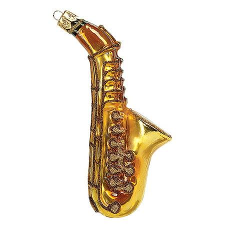 Saxophone Musical Instrument Polish Glass Christmas Ornament  Tree Decoration](Musical Instrument Decorations)