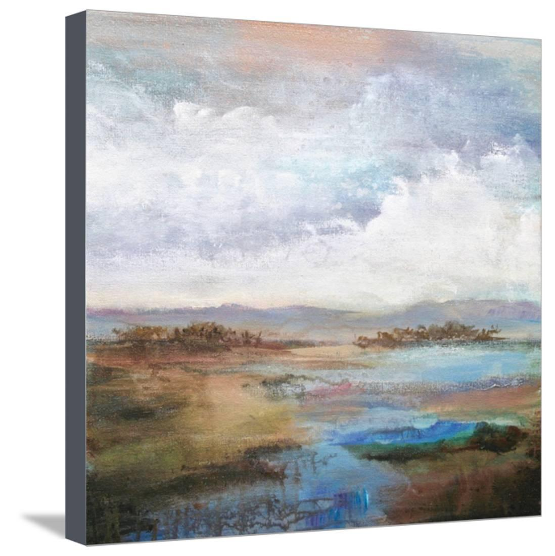 Along the Stream Stretched Canvas Print Wall Art By Karen Hale