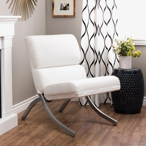I Love Living Rialto Bonded Leather White Chair