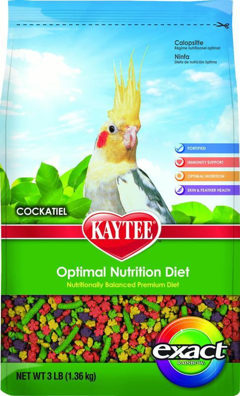Kaytee Exact Rainbow Cockatiel Bird Food, 3 lb by Kaytee