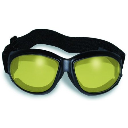 ELIMINATOR GOGGLES MOTORCYCLE PADDED EYEWEAR YELLOW TINT LENSES These Are Specially Made to Keep Dust And Wind Out Of Your