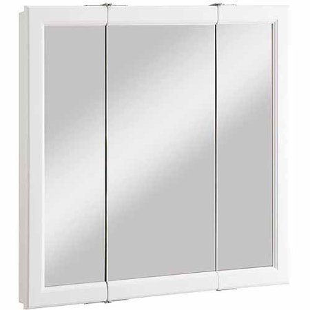 Design House 545293 Wyndham White Semi Gloss Tri View Medicine Cabinet Mirror With 3