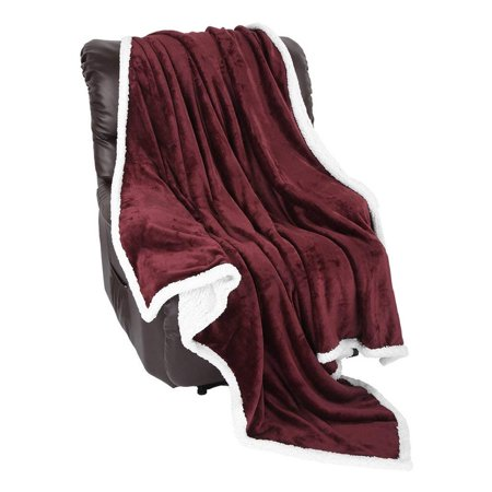 303a787f4b LANGRIA Sherpa Blanket Super Soft Warm Breathable Lightweight Reversible Bed  or Couch Throw Fleece Blanket Eco-Friendly Easy Care for Winter (60 x 80  inches ...