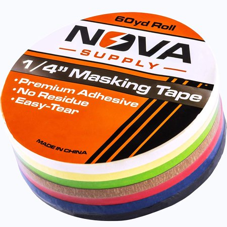 Premium 7 Color Value Pack of 1/4in x 60yd Adhesive Masking Tape. Use in Arts and Crafts Projects, Painting, Labeling or for Home and Classroom Decorating. Organize and Color Code Folders and Boxes. Arts And Crafts Paintings