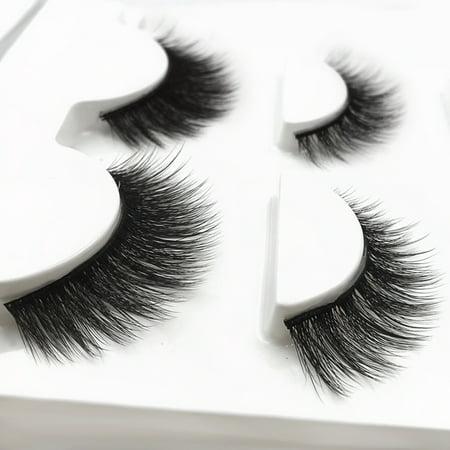 SHIDISHANGPIN 3 Paires Cils Mink 3D Faux Cils Mélangez Style Maquillage épais Extension de Cils Volume Naturel Doux Faux Cils - image 6 of 6