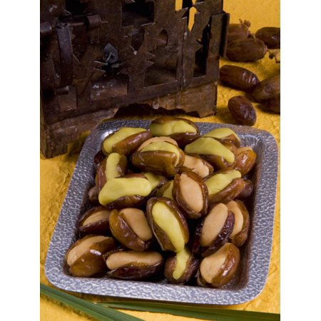 Arabic Food, Dates Stuffed with Almonds Paste, Middle East Print Wall Art By Tondini Nico (Arabic Staff)