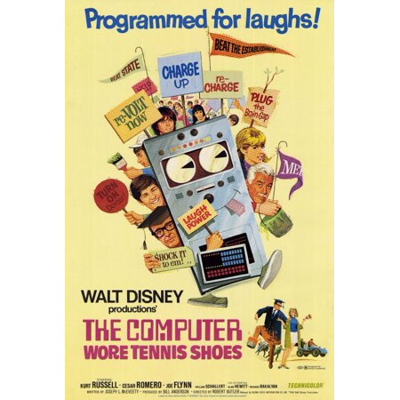 "The Computer Wore Tennis Shoes - movie POSTER (Style A) (27"" x 40"") (1970)"