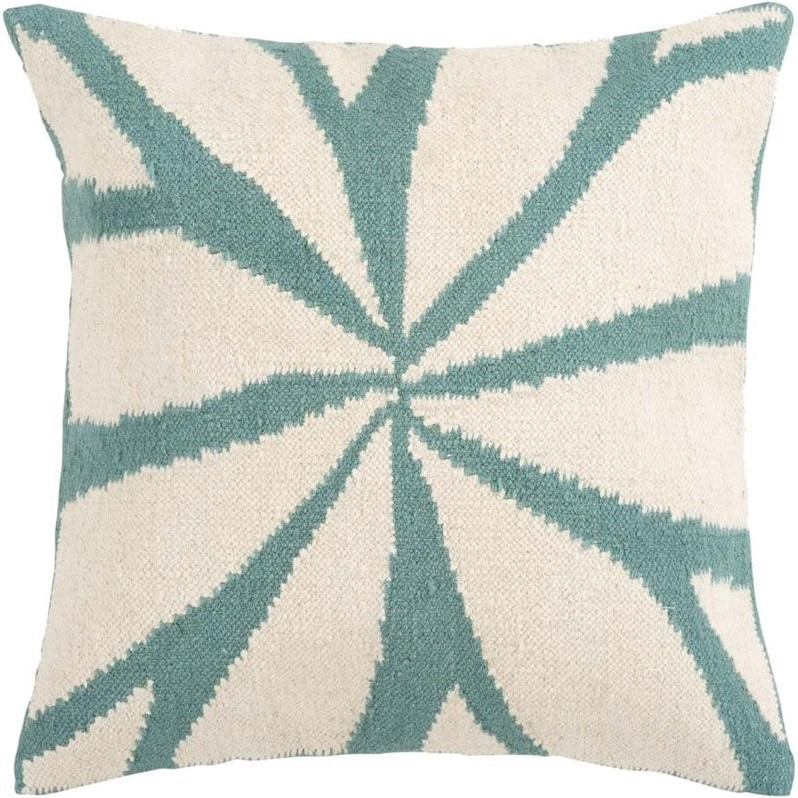 Surya Burst Decorative Pillow - Ivory