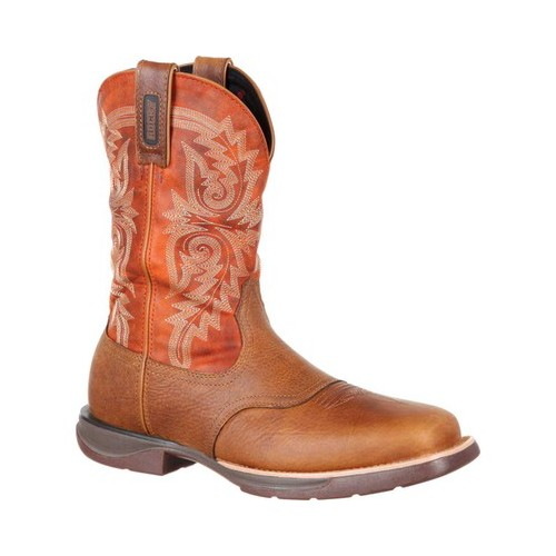 "Men's Rocky 11"" LT Waterproof Saddle Western Boot RKW0212 by Rocky"
