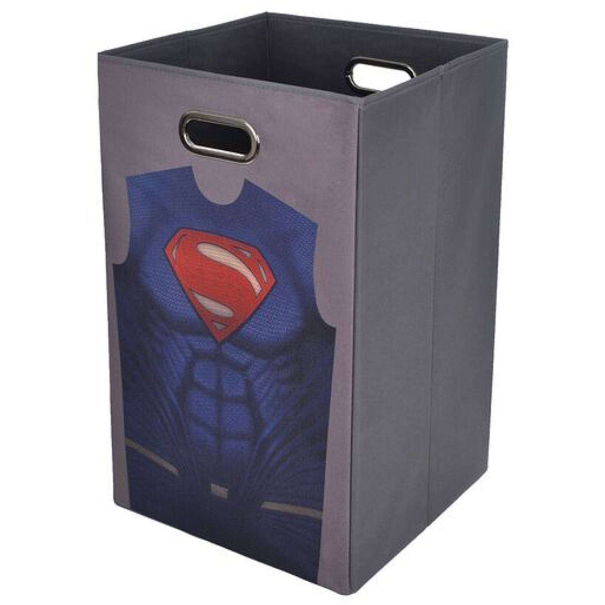 Batman vs Superman Grey Uniform Folding  Laundry Bin