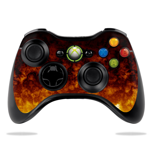 Protective Vinyl Skin Decal Cover for Microsoft Xbox 360 Controller wrap sticker skins Firestorm