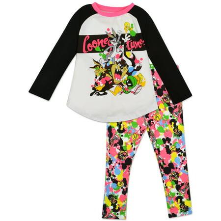 64a06d08d Warner Bros. - Toddler Girls  Looney Tunes Shirt and Leggings Set ...