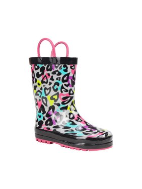 Infant Girls' Western Chief Groovy Leopard Rain Boot