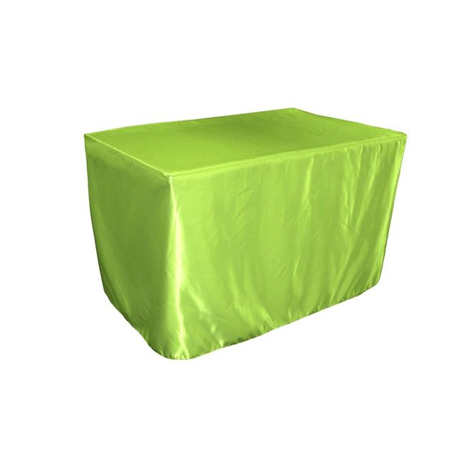 LA Linen TCbridal-fit-48x24x30-LimeB84 Fitted Bridal Satin Tablecloth, Lime 48 x 24 x 30... by