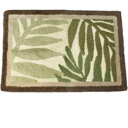 Better homes and gardens palm cove bath rug for Better homes and gardens bathroom rugs