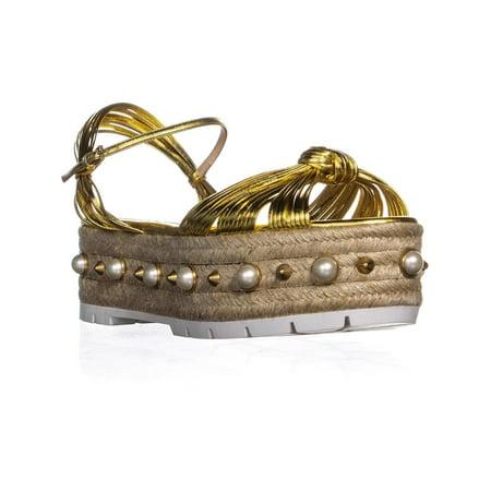 Womens Gucci Barbette Platform Sandals, Oro