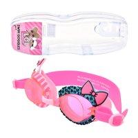 LOL SURPRISE Kid's Swim Goggles With Reusable Storage Case