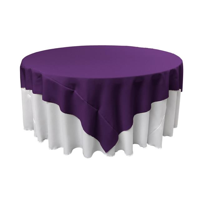 LA Linen TCpop72x72-PurpleP23 Polyester Poplin Square Tablecloth, Purple 72 x 72 in. by LA Linen