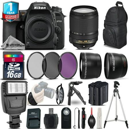 Nikon D7500 Camera + AFS 18-140mm VR + 1yr Warranty + Filters + 16GB -Saving Kit
