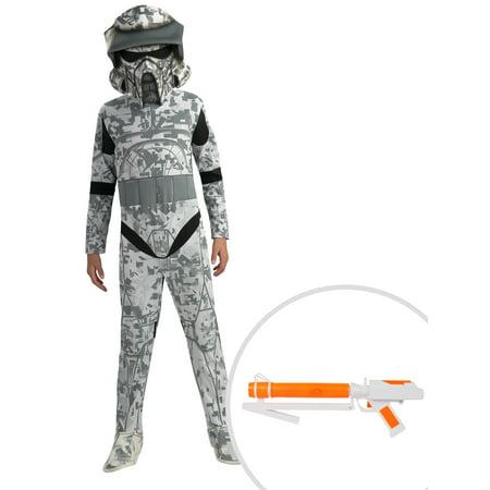 Boy's Star Wars Clone Wars ARF Trooper Costume and Star Wars Clone Trooper Blaster (Arf Troopers)