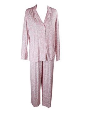 Alfani Women's Top and Pajama Pants, Pink, XXL
