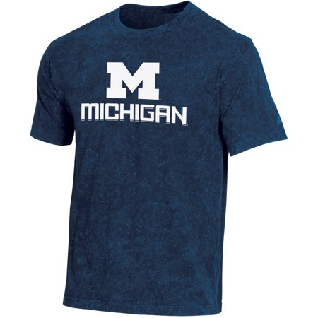 Men's Russell Navy Michigan Wolverines Classic Fit Enzyme Wash T-Shirt ()